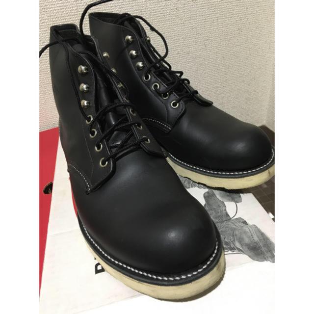 REDWING(レッドウィング)のレッドウィング プレーントゥ ブラック 美品! メンズの靴/シューズ(ドレス/ビジネス)の商品写真