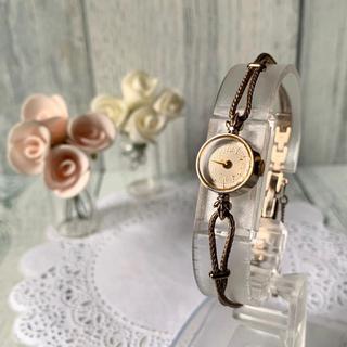 アガット(agete)の【美品】agete アガット クラシック 腕時計 0.02ct K10 ダイヤ(腕時計)