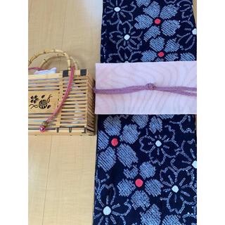 有松絞り浴衣 さくら柄 伝統工芸品 レトロ(浴衣)