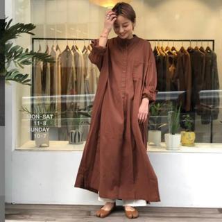 トゥデイフル(TODAYFUL)の未使用に近い todayful コットンツイルシャツドレス 定価15400(ロングワンピース/マキシワンピース)