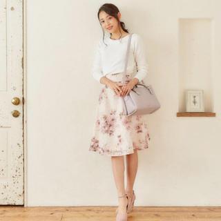 ミッシュマッシュ(MISCH MASCH)のミッシュ♡レース花柄スカート(ひざ丈スカート)