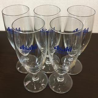 アサヒ(アサヒ)のAsahi ロゴ入りビールグラス×5個(グラス/カップ)