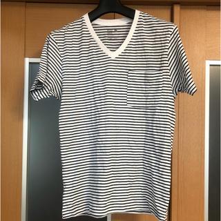 BACK NUMBER - Tシャツ ボーダーback number メンズ Vネック