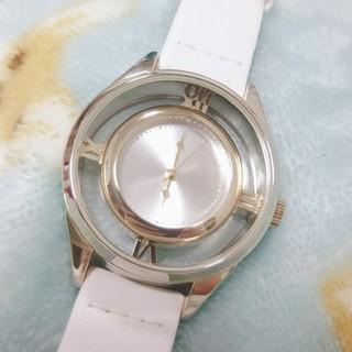 レディース 腕時計 ホワイト(腕時計)