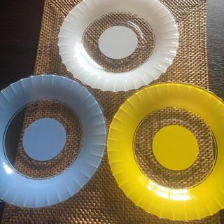 パイレックス(Pyrex)のIWAKI GLASS PYREX  昭和レトロ平皿(食器)
