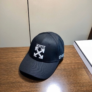 OFF-WHITE - OFF-WHITE 帽子 キャップ ブラック メンズ レディース