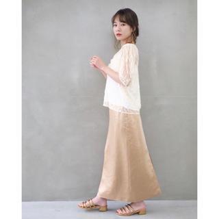 シェリーモナ(Cherie Mona)のバックスリットサテンスカート シェリーモナ タグ付き未使用(ロングスカート)