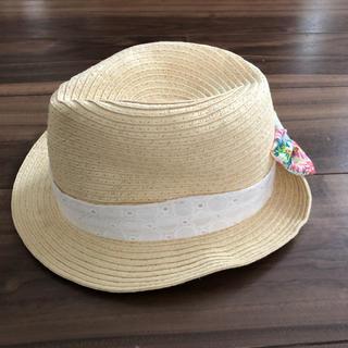 ブランシェス(Branshes)のブランシェス♡麦わら帽子 ストローハット 52㎝(帽子)