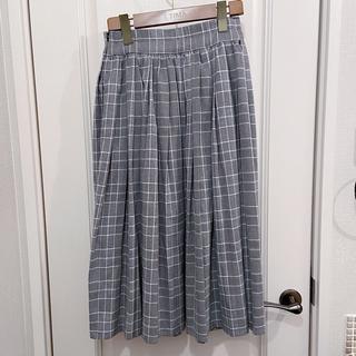 メリージェニー(merry jenny)のmerry jenny プリーツスカート チェック(ひざ丈スカート)
