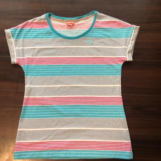 プーマ(PUMA)のプーマ Tシャツ レディース M  ストライプ(Tシャツ(半袖/袖なし))