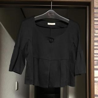 プロポーションボディドレッシング(PROPORTION BODY DRESSING)のPBD フレアスリーブ コットンショート丈ジャケット(ノーカラージャケット)