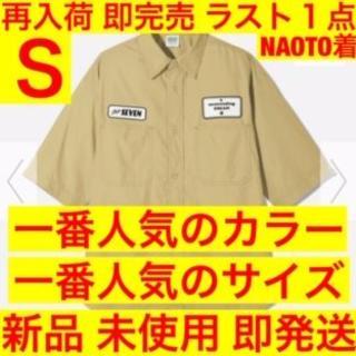 ジーユー(GU)の店頭 ネット 完売 本人着 ワークシャツ 5分袖 GU STUDIO SEVEN(シャツ)