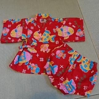 ミキハウス(mikihouse)の90cm ミキハウス 甚平 セットアップ(甚平/浴衣)
