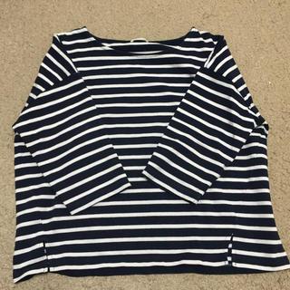 ジーユー(GU)のGU ボーダー七分袖(Tシャツ(長袖/七分))