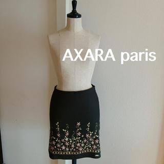 アクサラ(AXARA)のフランス製 AXARA アクサラ スカート 花柄 小花柄 ボタニカル タイト(ひざ丈スカート)