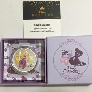 ラプンツェル 1オンス銀貨ジェムストーン付き 2020年ニウエ ディズニーコイン