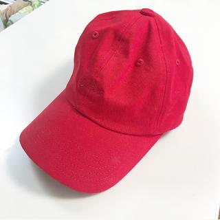 ジーユー(GU)のキャップ 赤 レッド ジーユー(キャップ)