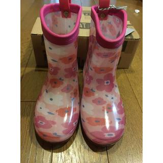 アンパサンド(ampersand)の長靴 レインブーツ  花柄 アンパサンド  新品未使用(長靴/レインシューズ)