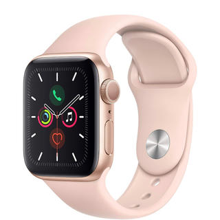 アップルウォッチ(Apple Watch)のApple watch series 5 40mm pink sport (腕時計(デジタル))