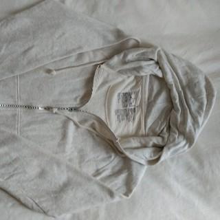 ムジルシリョウヒン(MUJI (無印良品))の無印良品 杢グレー長袖ジップアップフードパーカー サイズL 状態良好(パーカー)