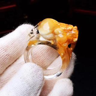 天然 貔貅 ルチルクォーツ リング   19.3mm(リング(指輪))