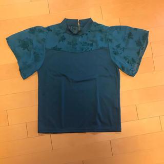 シマムラ(しまむら)のしまむら レース Tシャツ グリーン(Tシャツ(半袖/袖なし))