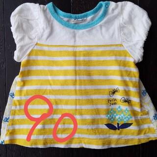 プチジャム(Petit jam)のキッズ 女の子 猫 半袖Tシャツ 90 プチジャム(Tシャツ/カットソー)
