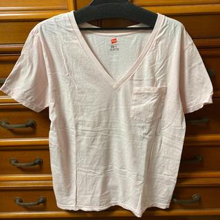 イエナスローブ(IENA SLOBE)の【試着のみ】IENA SLOBE×Hanes Tシャツ ピンク(Tシャツ(半袖/袖なし))