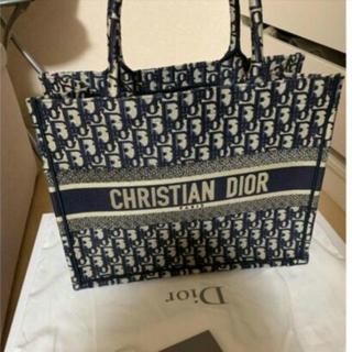 ディオール(Dior)のlady dior バッグ スモール ネイビー トートバッグ(トートバッグ)