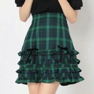 アンクルージュ(Ank Rouge)の♡ AnkRouge タータンチェックティアードフリルSK ♡(ミニスカート)