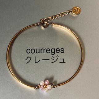 クレージュ(Courreges)のブレスレット courreges クレージュ ゴールド パール フラワー 腕輪(ブレスレット/バングル)