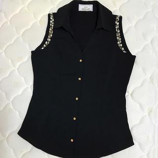 レディー(Rady)のRady♡ビジュー付きノースリーブシャツ(シャツ/ブラウス(半袖/袖なし))