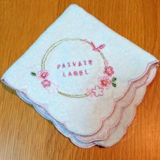 PRIVATE LABEL - PRIVATE LABEL ピンクハンカチ(新品同様)