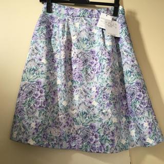 クチュールブローチ(Couture Brooch)のクチュールブローチ 新品 スカート 花柄 40 テチチ ロペピクニック 好きにも(ひざ丈スカート)