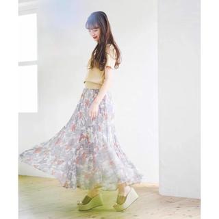 ココディール(COCO DEAL)のcocodeal フラワースカート(ロングスカート)