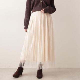 プロポーションボディドレッシング(PROPORTION BODY DRESSING)のチュールレーススカート(ロングスカート)