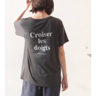 イエナスローブ(IENA SLOBE)のSLOBE IENA croiser les doigts ロゴTシャツ(Tシャツ(半袖/袖なし))