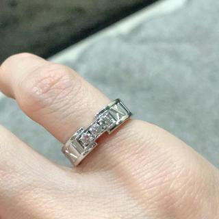 ティファニー(Tiffany & Co.)のティファニー  アトラス 3連ダイヤ リング K18WG(リング(指輪))