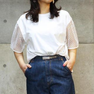 Dot&Stripes CHILDWOMAN - 2019SS Dot&Stripes ビッグメッシュドッキング Tシャツ