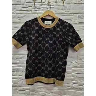 グッチ(Gucci)の【GUCCI】GGコットンラメ ファブリック トップス(Tシャツ(半袖/袖なし))