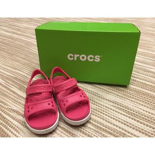 crocs - クロックス 子供用サンダル 15センチ ピンク