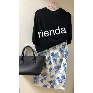 rienda - rienda 花柄 タイトスカート