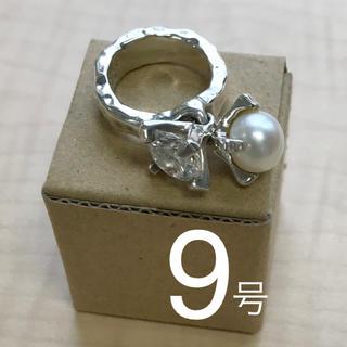 イーエム(e.m.)のe.m. イーエム リング/指輪 ジルコニア × パール(リング(指輪))