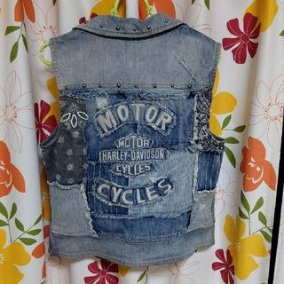 ハーレーダビッドソン(Harley Davidson)のハーレーダビッドソン デニムベスト(Gジャン/デニムジャケット)