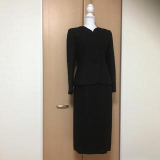 ソワール(SOIR)のブラックフォーマルレディーススーツ9号 PATIO WEAR 東京ソワール 喪服(礼服/喪服)