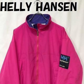 ヘリーハンセン(HELLY HANSEN)のヘリーハンセン ナイロンジャケット セイル アームワッペン 裏起毛 ピンク S(ナイロンジャケット)