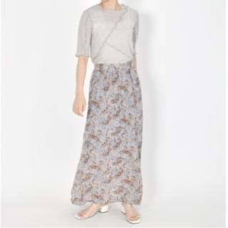ダブルクローゼット(w closet)の再値下げ🤲ペイズリー柄ロングスカート(ロングスカート)