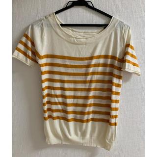 ルクールブラン(le.coeur blanc)のボーダー 半袖トップス(Tシャツ(半袖/袖なし))