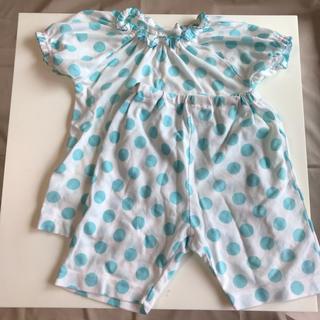 西松屋 - 100センチ 夏用パジャマ 水色ドット柄