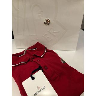 MONCLER - MONCLER ポロシャツ 赤